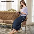 【Kinloch Anderson金安德森】甜美貼袋不對稱牛仔長裙(藍/黑) KA0774010