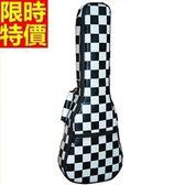 烏克麗麗琴包配件-23吋經典黑白格加厚帆布手提保護琴套69y19【時尚巴黎】