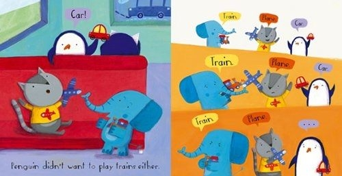 【男寶寶必買.硬頁書】TRAIN!  /硬頁書《主題:幽默.溫馨 》