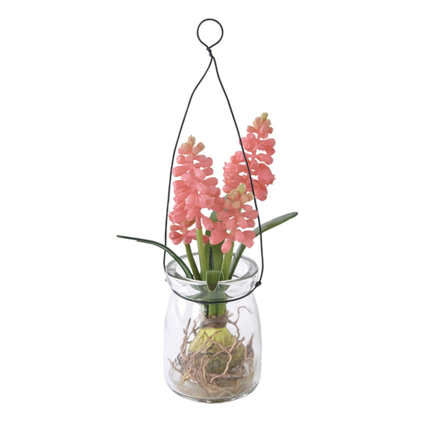 【SPICE】日本Zakka雜貨 居家裝飾 園藝 人造花 小清新 人造野花玻璃瓶擺飾 (吊掛式) 3色一組