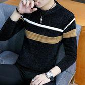 冬季毛衣男韓版加厚雪尼爾圓領線衣日系潮流青年打底針織衫男修身