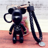 熊汽車鑰匙扣 多款熊鑰匙掛飾 女士包包掛飾 編織皮繩 范思蓮恩
