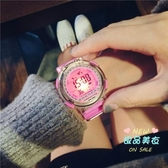 兒童手錶 兒童手錶女孩 防水中小學生可愛男大童10-15歲男孩運動果凍電鑽錶 5色