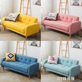 北歐單人沙發服裝店兩人沙發小戶型雙人三人沙發現代簡約布藝沙發qm    JSY時尚屋