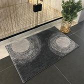 北歐式浴室地墊淋浴房吸水腳墊衛浴防滑墊現代時尚浴室 初見居家