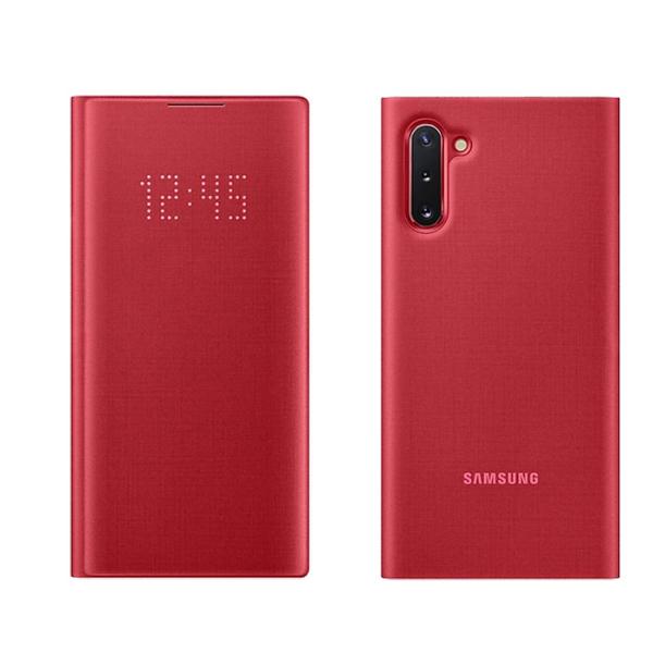 【免運費】SAMSUNG Galaxy Note10 原廠LED皮革翻頁式皮套