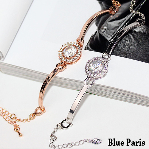 藍色巴黎 ★ 歐美風奢華滿鑽手環 手鐲【21581】