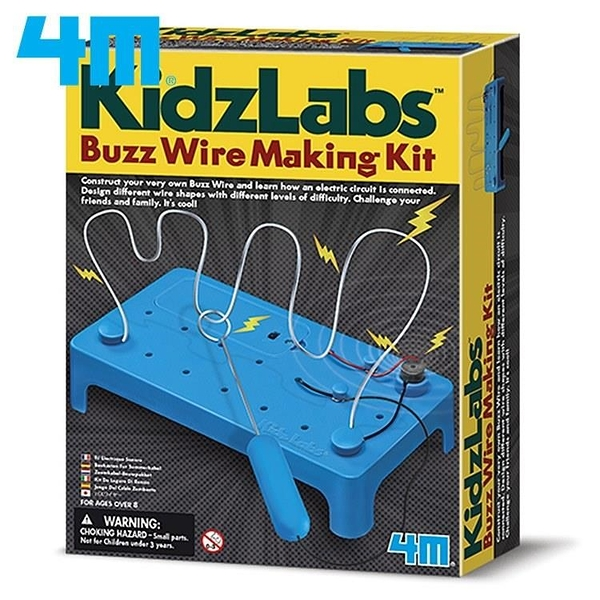 【南紡購物中心】4M KidzLabs電流急急棒Buzz Wire Making Kit 00-03232科學探索電路設計教具