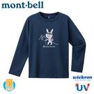 【Mont-Bell 日本 童 Wickron T恤 Alpinist 登山兔長袖排T《藍》】1114319/t恤/抗UV