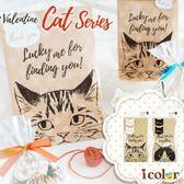 icolor 貓臉禮物包裝紙袋