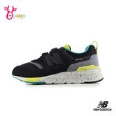 New Balance 中童 運動鞋 997H運動時尚 強勢撞色 慢跑鞋 P8445#黑綠◆OSOME奧森鞋業