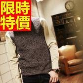 針織背心-紳士風簡約經典款V領男上衣2色61d13【巴黎精品】