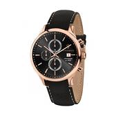 【Maserati 瑪莎拉蒂】GENTLEMAN經典紳士三眼計時腕錶-時尚黑/R8871636003/台灣總代理公司貨享兩年保固