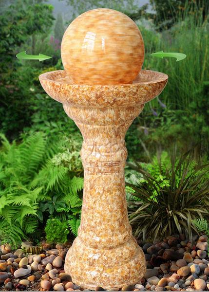 流水噴泉擺件工藝 風水球招財 歐式家居