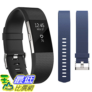 [106美國直購] 錶帶 Fitbit Charge 2 Activity Tracker Bundle - Large