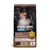 寵物家族-紐頓Nutram-T23無穀潔牙犬火雞11.4KG