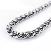 316L醫療鋼 6mm粗鍊 蟠龍龍骨鏈蛇鏈 項鍊單鍊純鏈子-銀  防抗過敏 不退色