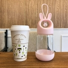 兔子玻璃杯女萌萌可愛學生杯子韓版韓國創意潮流便攜清新超萌水杯