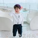 男童長袖t恤兒童春裝上衣男孩打底衫白色春季2021新款寶寶潮洋氣t 小艾新品