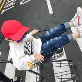 店長推薦 男童褲子新款韓版寶寶破洞牛仔褲男1-3歲春秋長褲5嬰兒潮