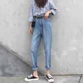 破銅牛仔褲 牛仔褲女寬鬆2020春季新款顯瘦九分哈倫蘿卜直筒高腰【88折免運】