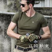 戰術上衣 夏執政官速干純棉短袖T恤男緊身圓領超彈力戰術戶外運動體恤透氣