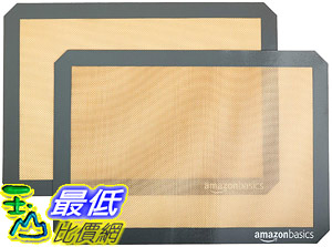 [8美國直購] 烘烤墊 AmazonBasics Silicone Baking Mat Sheet, Set of 2 B0725GYNG6