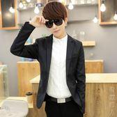 西裝外套小西裝男修身型英倫西服上衣黑色青年商務長袖休閒外套潮 街頭潮人