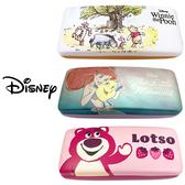 【日本正版】迪士尼 皮革 硬殼 眼鏡盒 附拭鏡布 小熊維尼 小美人魚 熊抱哥 Disney 192667 192674 192681