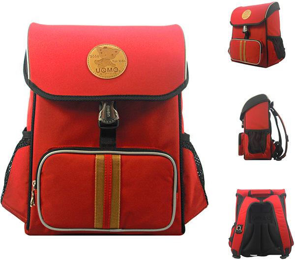 【橘子包包館】UnMe 台灣製造 多功能 護脊書包 3093 紅色
