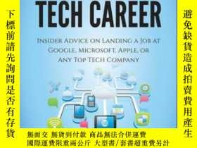 二手書博民逛書店Cracking罕見the Tech Career: Insider Advice on Landing a Jo