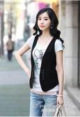 西裝馬甲 馬甲女秋季短款韓版學生開衫百搭職業裝韓版坎肩修身無袖外套 果果輕時尚
