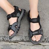 戶外個性沙灘鞋 夏季舒適魔術貼涼鞋《印象精品》q122