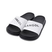 KANGOL 袋鼠 印花LOGO運動拖鞋 白 6125162100 男鞋