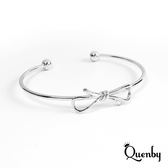 Quenby 金屬蝴蝶結質感手環/手飾