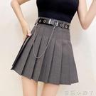 春款女裝半身裙2021年新款氣質韓版高腰顯瘦學院風a字百褶短裙子 蘿莉新品