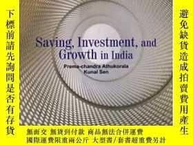 二手書博民逛書店Saving罕見Investment And Growth In India-印度的儲蓄投資與增長Y43663
