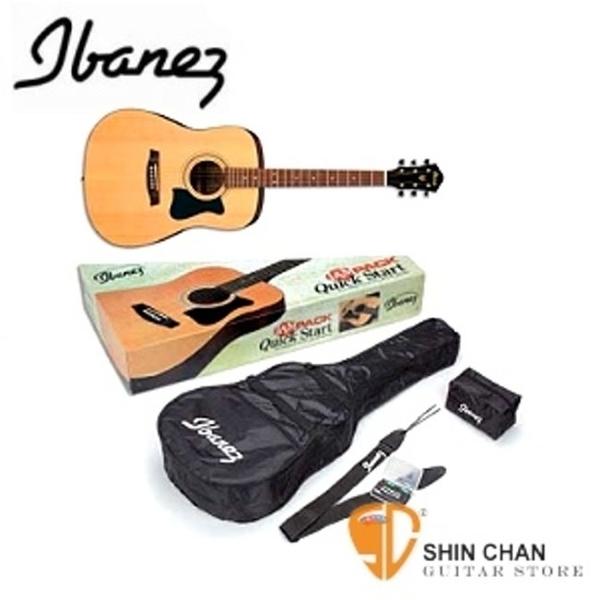 【缺貨】Ibanez 吉他 ibanez V50 NJP 木吉他套裝組(IBANEZ原廠吉他全配件) V50NJP  民謠吉他