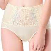 思薇爾-柔挺美學系列M-XXL蕾絲高腰三角修飾褲(茴香黃)