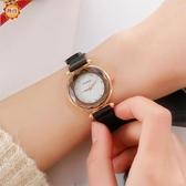 手錶 爆款創意時尚米蘭帶磁鐵扣手錶女款菱形鏡面懶人石英女士手錶 俏girl