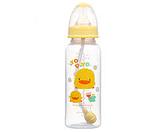 黃色小鴨 PP自動吸管奶瓶 240ml【德芳保健藥妝】