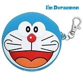 【SAS】日本限定 DORAEMON 哆啦a夢 笑臉版 掛勾 矽膠 零錢包 / 收納包