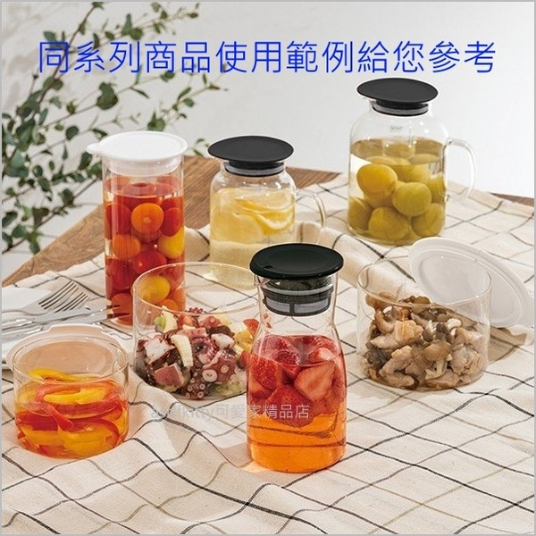 asdfkitty可愛家☆HARIO日本製-黑色700ML-玻璃飲料瓶/醃漬罐