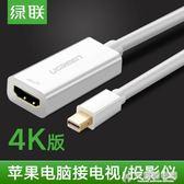 mini dp轉hdmi適用蘋果筆記本電腦投影儀轉換器雷電接口高清 快意購物網
