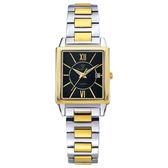 Olympia Star奧林比亞之星 經典時尚羅馬方型腕錶-雙色(黑)/25mm