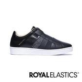 ROYAL ELASTICS Prince Albert 黑銀真皮時尚休閒鞋 (男) 01494-999