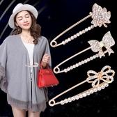 小胸針胸花別針裝飾創意百搭外套開衫絲巾領扣固定衣服女配飾韓國