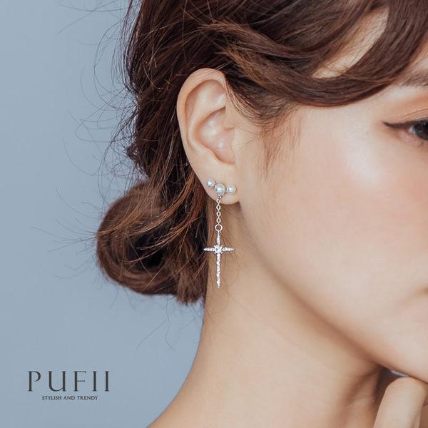 限量現貨★PUFII-耳環 十字架造型耳環-0605 現+預 夏【CP16860】