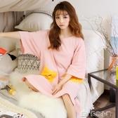 睡衣女夏季短袖純棉學生夏天睡裙可愛清新家居服韓版春秋季可外穿 多色小屋