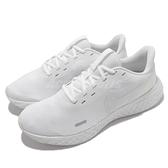 Nike 慢跑鞋 Revolution 5 全白 白 路跑 入門款 男鞋 運動鞋 【ACS】 BQ3204-103